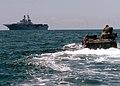 US Navy 060426-N-5822P-118 An amphibious assault vehicle (AAV) performs maneuvers with the multi-purpose amphibious assault ship USS Bonhomme Richard LHD 6.jpg