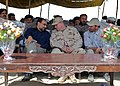 US Navy 070731-N-3385W-048 Commanding Officer of Provincial Reconstruction Team Khost, U.S. Navy Cmdr. David Adams talks with Governor Arsala Jamal prior to the ribbon cutting for the Dadwal Bridge.jpg