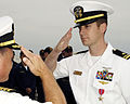 US Navy 070824-N-7498L-043 Lt. j.g. Bradley Pate, assigned to guided-missile destroyer USS Benfold (DDG 65), receives the Bronze Star from Capt. Michael Gilday, commander of Destroyer Squadron 7, for acts of heroism and outstan.jpg