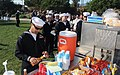 US Navy 080112-N-1722M-004 Sailors assigned to the Nimitz-class nuclear-powered aircraft carrier USS Ronald Reagan (CVN 76) enjoy free food at Chase Palm Park during a free concert put on for their benefit.jpg