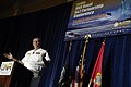 US Navy 080812-N-7676W-019 Chief of Naval Research Rear Adm. William E. Landay III provides the opening presentation during the Office of Naval Research (ONR) 2008 Science and Technology (S^T) Partnership Conference.jpg