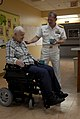 US Navy 100327-N-2389S-069 Rear Adm. Barry Bruner, commander of Submarine Group (COMSUBGRU) 10, talks to a Pearl Harbor survivor at the Veterans Affairs Hospital.jpg