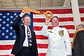 US Navy 100423-N-2728S-075 Mike Carrell, chairman of the Port Commission for the Port of Corpus Christi Authority, left, and Capt. Leland Taylor, commanding officer of Naval Station Ingleside, Texas.jpg