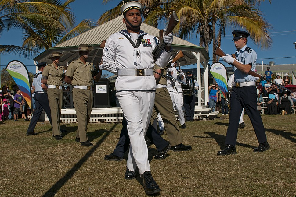 US Navy 110709-N-CZ945-602 Australia's Federation Guard performs at the opening ceremony for Talisman Sabre 2011