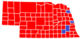US Presidential Election Results in Nebraska by County, 2000.png
