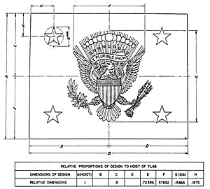 Flag of the Vice President of the United States - Specification from executive order