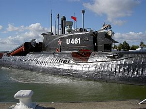 Juliett-class submarine - U-461 (actually K-24) in U-boat Museum Peenemünde