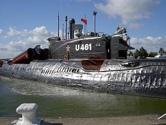 Juliett-class submarine - U-461 (actually K-24) in U-boat Museum Peenemünde
