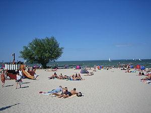 Ueckermünde Strand am Stettiner Haff