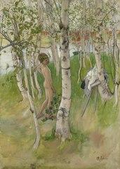 Ulf. Nude Boy among Birches