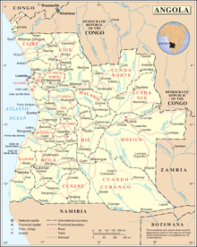 List of rivers of Angola - Wikipedia Map Of Angola on map of armenia, map of ghana, map of lesotho, map of southern europe, map of argentina, map of africa, map of albania, map of namibia, map of philippines, map of zambia, map of mozambique, map of burkina faso, map of bolivia, map of chile, map of african countries, map of botswana, map of madagascar, map of djibouti, map of latvia, map of spain,