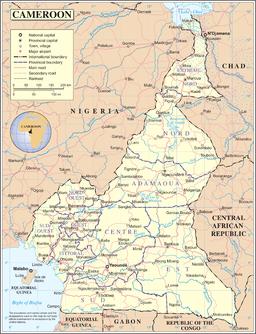 Mapo de Kameruno