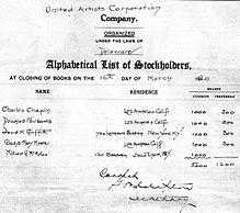 Contratto autografo dell'apertura della UA nel 1920.