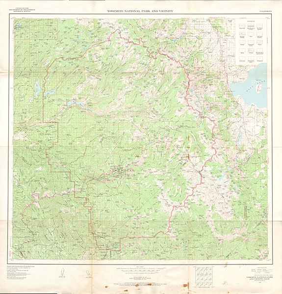 File:United States Geological Survey Map Yosemite, Published ...