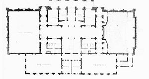 6 Burlington Gardens - Image: University of London plan as built 1867 edited
