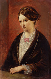 Unknown woman, formerly known as Florence Nightingale by Augustus Leopold Egg.jpg