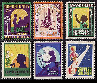 Cinderella stamp - American Easter seals from the 1930s