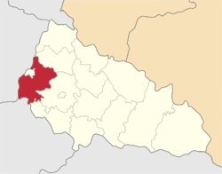 Location of Užhorodas rajons