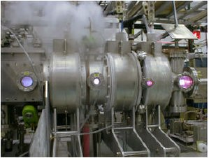 Variable Specific Impulse Magnetoplasma Rocket - The testing vacuum chamber, containing the 50 kW VASIMR, operated in ASPL in 2005–2006