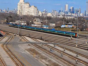 Nightstar (train) - Via Rail Renaissance carriages in Toronto in April 2009
