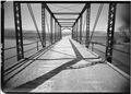 VIEW OF DECK AND RAILING, LOOKING WEST - Benson Bridge, Spanning Cutler Reservoir, Benson, Cache County, UT HAER UTAH,3-BEN.V,1-7.tif