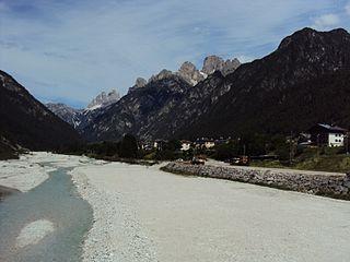 Val dAnsiei valley in the Eastern Dolomites