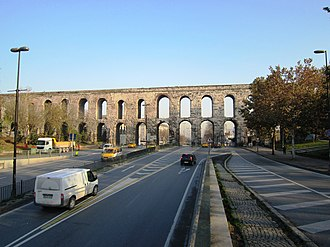 Valens Aqueduct - Valens Aqueduct at Atatürk Bulvari seen from southwest