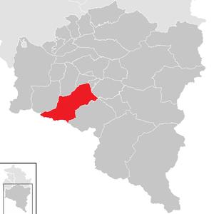 Vandans - Image: Vandans im Bezirk BZ