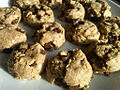 Vegan oatmeal chocolate chip cookies, April 2009.jpg