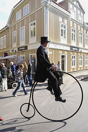 Penny-farthing - Velocipedist in Sweden