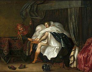 Adriaen van de Venne - Image: Venne Woman and a jester