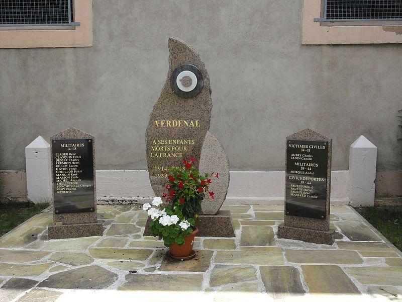 Verdenal (M-et-M) monument aux morts