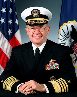 Admiral Vern Clark, Chief of Naval Operations for the United States Navy, is an alumnus of the University of Arkansas. VernClark.jpg