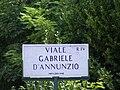 Viale Gabriele d'Annunzio - Street sign in Rome.jpg