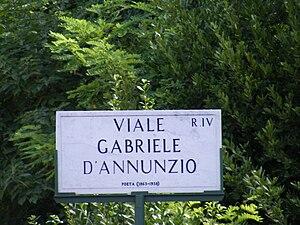 English: Viale Gabriele d'Annunzio - Street si...