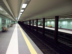 Victoria metro station - Station platforms