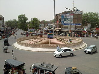 Hanumangarh - A view of Bhagat Singh Chowk at Hanumangarh Junction.