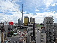 View to the east from the Asakusa Culture Tourist Information Center.jpg