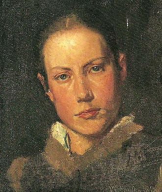 Viggo Johansen - Martha, the artist's wife, painting by Viggo Johansen