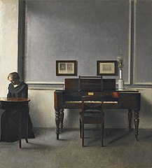 Ida in an Interior with Piano