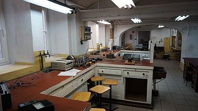 Vintage electrotechnical laboratory at Gdańsk University of Technology.jpg
