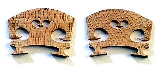 Violin - Front and back views of violin bridge