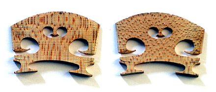 Front and back views of violin bridge Violin bridge 2 views.jpg