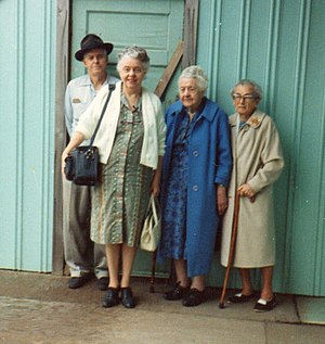 Virgie McFarland - Left to Right: Virgil McFarland, Ruth McFarland Puphal, Virgie Smith McFarland and Theresa Polexine Daub Moon