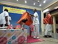 Vishnu felicitated at annamayya library.JPG