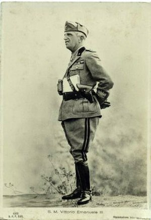 Armistice of Cassibile - King Victor Emmanuel III in his uniform as Marshal of Italy.