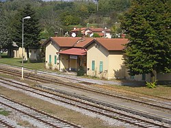 Volcja Draga-train station-from overhead passage.jpg