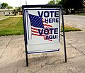 Vote Here sign in Taft, Texas.jpg