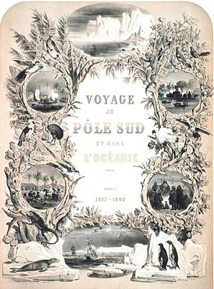 Jules Dumont d'Urville - Frontispiece to: Voyage au pole sud et dans l'Oceanie
