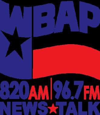 WBAP (AM) - Image: WBAP (AM) former logo (2010 2013)